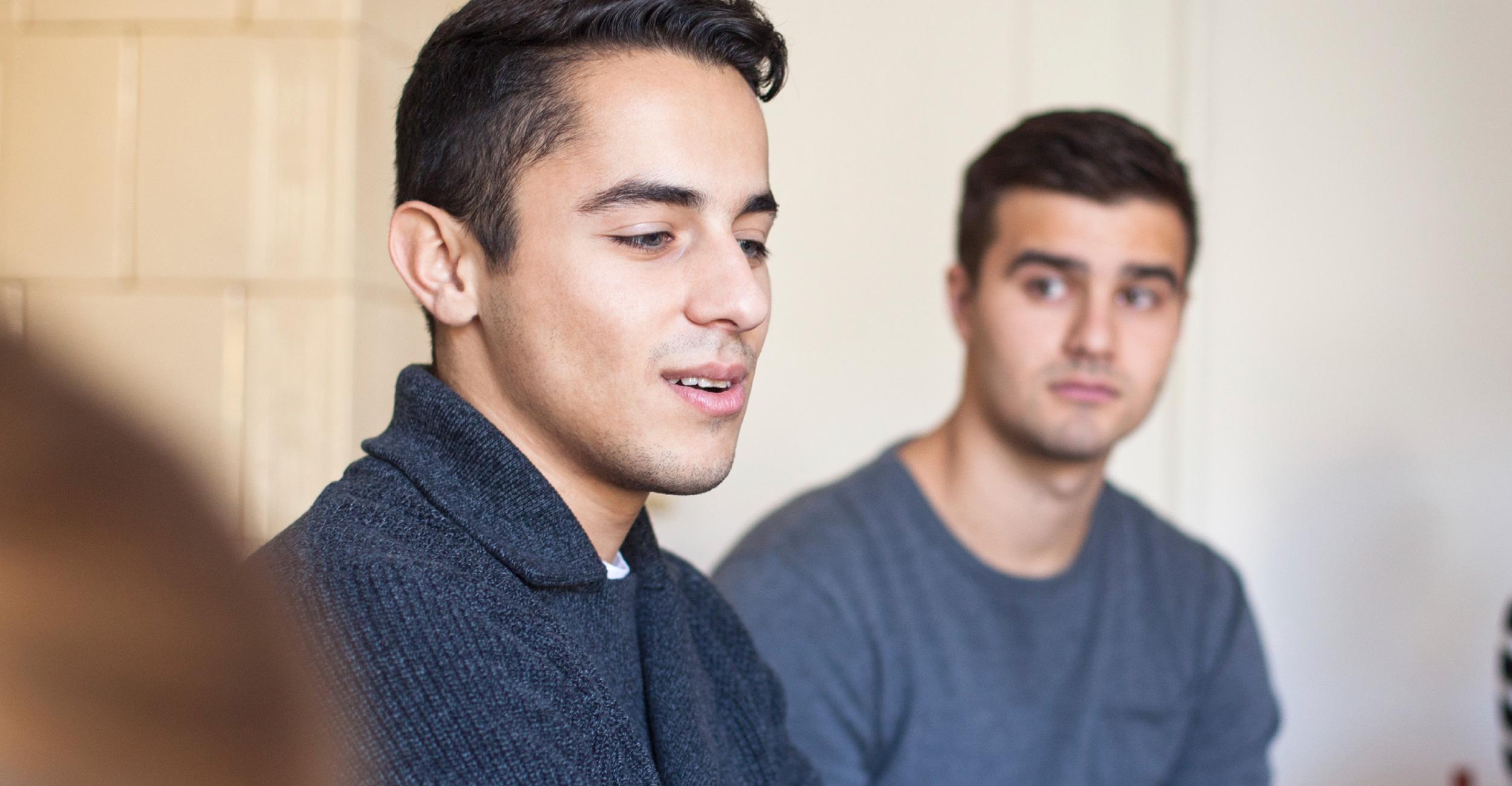 Men of Valor participant attending a class