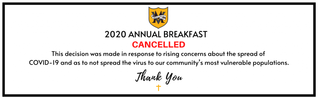 Breakfast event cancelled
